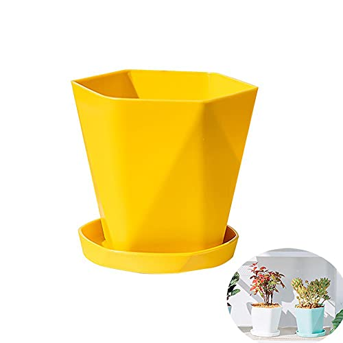 FAFAD - Vaso da fiori creativo in plastica stile nordico vasi da giardino moderni decorativi colorati vasi per piante con staffa di base, per interni ed esterni