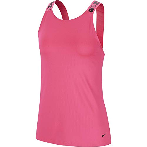 NIKE Icnclsh Elastkia - Camiseta Deportiva para Mujer, N'est Pas Applicable, Mujer, Color Hyper Pink/Black, tamaño Extra-Large