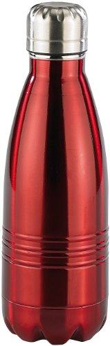 Rosenstein & Söhne Edelstahl Trinkflasche: Doppelwandige Mini-Vakuum-Isolierflasche aus Edelstahl, 0,35 Liter (Kühlflasche)