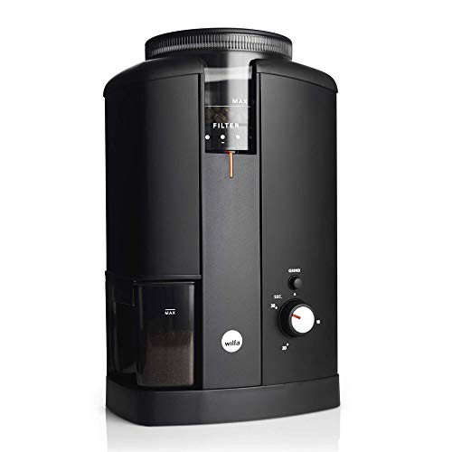 Wilfa Svart CGWS-130B Aroma elektrische koffiemolen roestvrij staal 40 mm kegelmaalwerk, 34 maalgraden