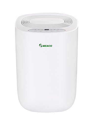 Meaco MeacoDry Dehumidifier ABC Range 10LW (White) Ultra-Quiet, Energy Efficient, Laundry Mode, Auto-off, Auto De-Frost - Ideal for Damp and Condensation in the Home