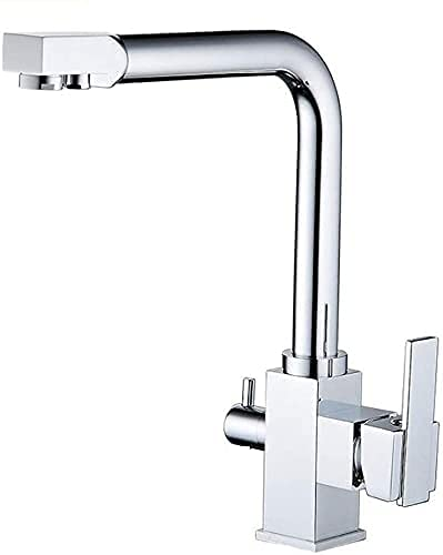 3-Way agua grifo de la cocina se puede girar 360 ° grifo de la cocina 2 grifo Lever Mixer, grifo del fregadero, grifo del fregadero para ósmosis Systems, Sistemas de Agua de latón