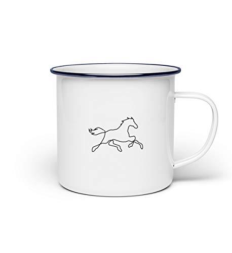 Chorchester Pferd Zeichnung für Tier-Fans - Emaille Tasse -Einheitsgröße-Weiß