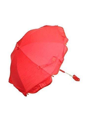 Pesci Baby Tout Nouveau Bébé Parasol/Parapluie/Soleil Protection Adapte à la Plupart Landaus - Rouge, 62CM DIAMETER