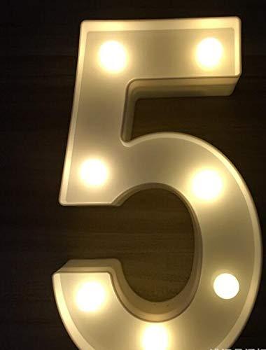Licht Creative-26 Englisch Alphabet Anzahl Batterieleuchte Luminous LED Brief Nachtlicht Romantische Hochzeit Weihnachtsdekoration C (Color : 5)