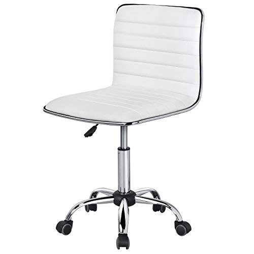 Yaheetech Bürostuhl Drehstuhl Kunstleder Schreibtischstuhl höhenverstellbarer 360° Frei Drehbar Chefsessel mit Laufrollen