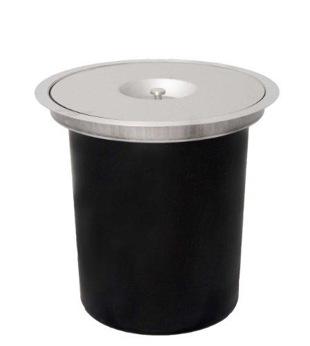 Wesco 06010047 Ergomaster - Cubo de la basura para superficies de trabajo (11 L)