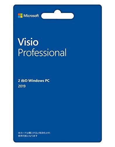 Microsoft Visio Professional 2019(最新 永続版) カード版 Windows10 PC2台