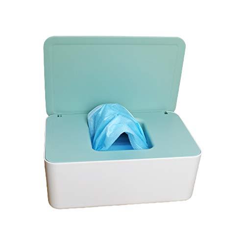 Max-Tonsen Estuche de Almacenamiento para Caja de pañuelos, dispensador de toallitas húmedas para bebés, Tapa abatible, Caja de Almacenamiento a Prueba de Polvo, 1#