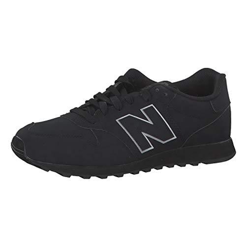 New Balance Herren 500 Sneaker, Schwarz (Black Black), 45 EU
