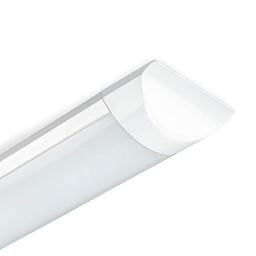 POPP®Pantalla LED batten light regleta libre halógeno tubo led integrado 9W 18W 27W 36W 45W polvo,color blanco frio.supermercado, taller, hogar y hospital (9W 6000K, 1 unidad)