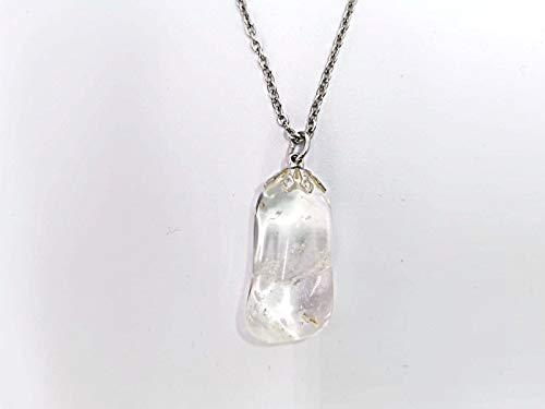 Ciondolo Pendente collana Minerali pietre dure semipreziose gioielli artigianali (CRISTALLO DI ROCCA)