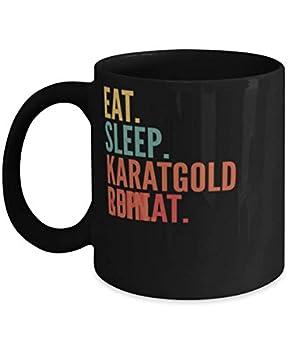 Karatgold Coin Crypto Eat Sleep Karatgold Coin Repeat Mug 11oz black