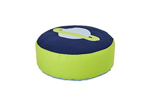 Hoppekids Space Sitzsack, 100{06985c777029e5bbcbeb7704d06efc3c6d798940cf999450fc6b9c19f735fb91} Baumwolle ökotex Zertifiziert, Stoff, blau, 75 x 75 x 23 cm