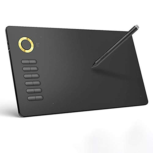 LICHUXIN Electronic Drawing Board,10 * 6 Inch Artistic Design Creation Hand-Painted Board, 12 Editable Shortcut Keys, Compatible with Windows And Mac OS Systems,Yellow