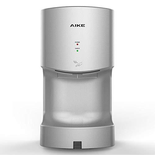 AIKE AK2630T - Secador de manos automático con depósito de drenaje de 1400 W, cubierta ABS