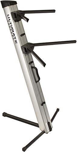 Ultimate Support APEX AX-48 PRO SILVER APEX Series Two-tier Portable Column Keyboard Stand (Silver)