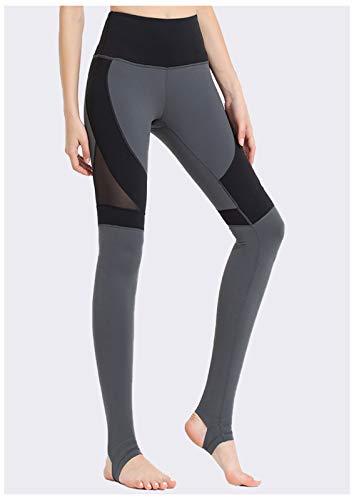 QMMD Pantalones de yoga de cintura alta para mujer, sin costuras, de cintura alta, para yoga, no se transparentan, para correr, entrenar, gimnasio, con control de barriga, K, L