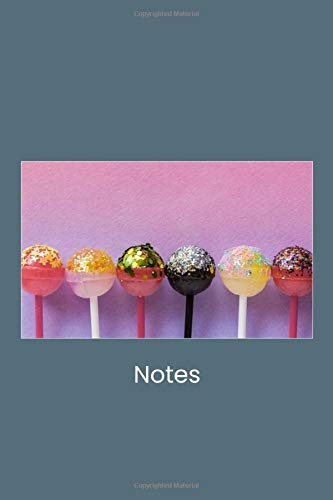 Cute stylish candy 100 page lined paper essential writing note book journal for your sweetheart lollipop lover