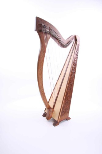 Irisch Keltische Harfe 36 Saiten mit Halbtonklappen NEU Incl Tasche