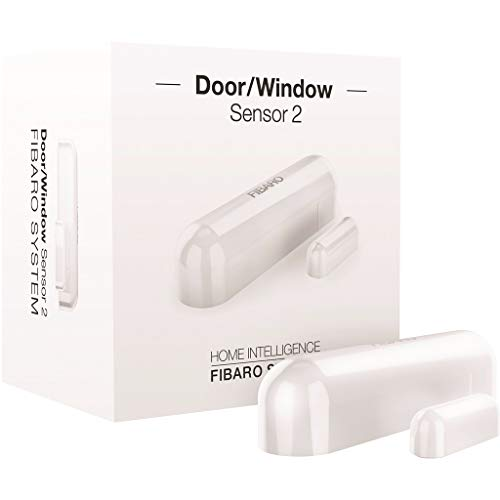 FIBARO Door Windows Sensor 2 / Z-Wave Plus Türfenster und Temperatursensor, White, FGDW-002-1