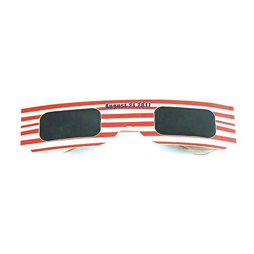 Sonnenfinsternis Gläser (10 Stück) Sonnenfinsternis Brille Eclipse Brille Totale Sonnenfinsternis Beobachtungsbrille Weißes Rahmenpapier Zufällige Farbe
