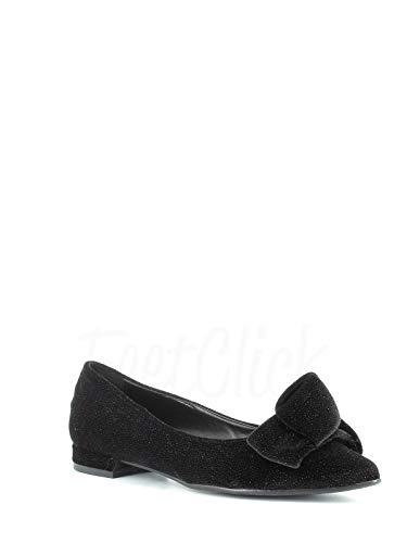 Made in Italy ballerina met strik - zwart