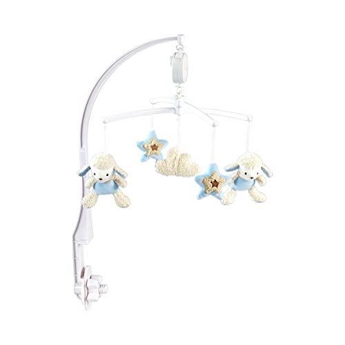 solini Mobile musical 40 cm mobile bébé, bleu ciel - moutons