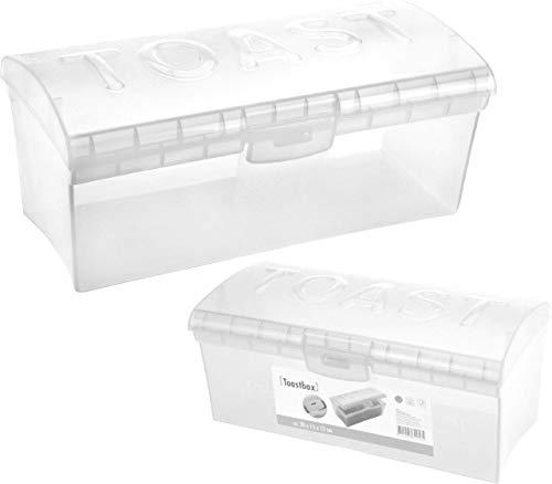 Toastbox Brotdose transparent Toastbrotbox Toast Brotkasten Brotdose Brotbehälter kleine und große Sandwichbox Brotbox