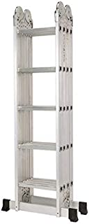 Multipurpose Ladder 4x5 6 meters silver