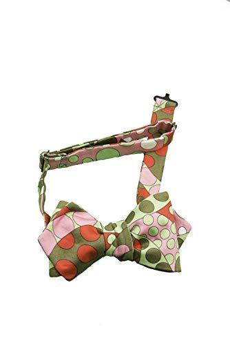 Papillon da Annodare per Uomo e Donna in Cotone Rasato Multicolore dal Rosso e Verde al Rosa, Taglia e Cinturino Regolabile e con Chiusura Gancio
