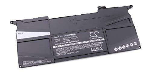 vhbw Batterie 5100mAh (7.6V) pr Notebook Apple MacBook Air 11\
