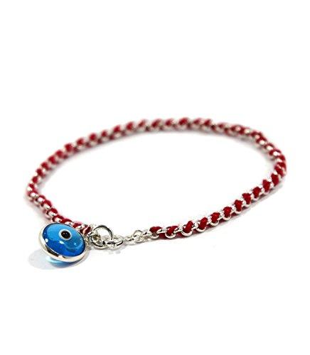 Azul Protección De Ojos Encanto rojo cadena pulsera