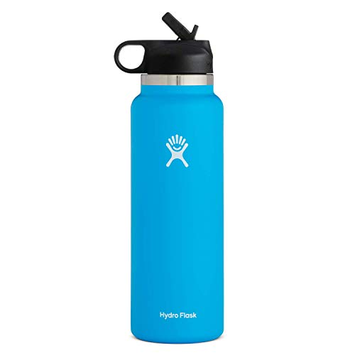 Hydro Flask Water Bottle - Wide Mouth Straw Lid 2.0-32 oz, Pacific