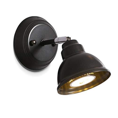 Iluminación de pared Minimalista Lámpara de pared de hierro forjado negro Dormitorio Lámpara de pared junto a la cama Iluminación Pasillo Pasillo Lámpara de pared ajustable Lámpara de sala de estar En