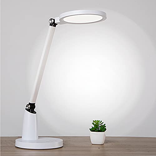 SJNSJN Lámpara Escritorio LED, Lámp de Noche Atenuación Continua de 3 Temperaturas Color, Interruptor Tactil Puerto Carga USB Lampara Mesa, Luz de Iluminación Protección Oficina Ocular Plegable