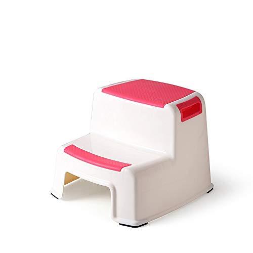 Byx- Step Stool Baby Step Tabouret Enfant Tampon De Lavage Repose-Pieds Salle De Bains Anti-Slip Tabouret en Plastique Tabouret Double Couche Augmenter Une Couche -sièges de Toilette