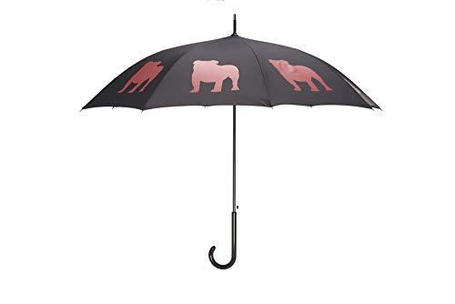 The San Francisco Umbrella Company Black Red English Bulldog Umbrella, One Size