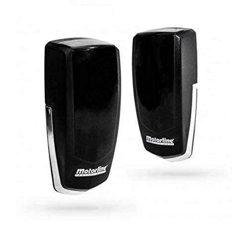 MF30 Juego fotocelulas universal de rayos infrarojos, tipo emisor-receptor para puerta automatica garaje y parking, sensor para deteccion de obstaculos, estandar compatible con todas las marcas