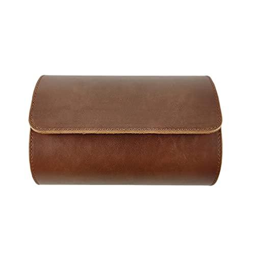 Tiantianchaye Caja de almacenamiento de reloj de piel sintética de lujo para viajes, 2 posiciones, relojes, organizador para hombres y mujeres, regalos de aniversario de Navidad