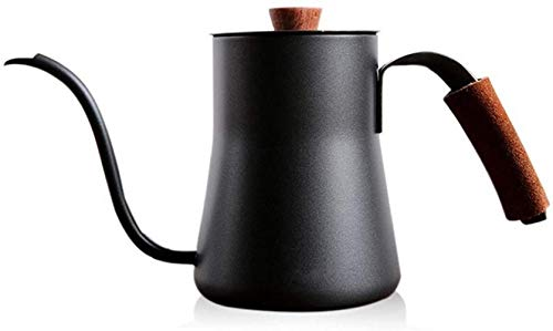Kettle Coffee Pot Simple Kettle Coffee Pot Tea Pot Drip Coffee Maker Stainless Steel Hand-made Coffee Filter Coffee Kettle Hand Drip Tea and Coffee Kettle for Induction,Size:One Size,Colour:Black