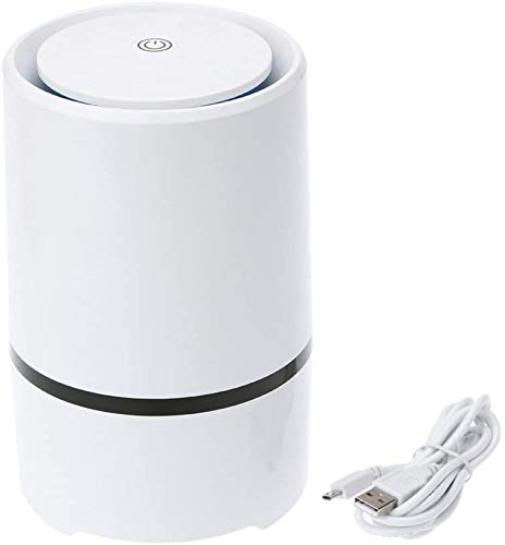 LXT PANDA Air Purifier, Air Cleaner Ionizer with HEPA Filter, Personal Desktop Air Cleaner with Night Light for Smoke, Dust, Pets, USB Filtration System Cleaner for Home Car Office.