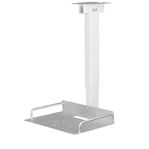 Drsn Soporte para Proyector de Techo y Pared con Bandeja- Universa - Carga Máx 1.5 kg - Bandeja de 24×20cm - Palo Extensible 34-56cm, para miniproyectores, cámaras de videoconferencia etc.