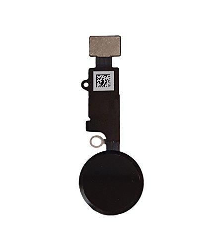 Smartex® Home Button Flexkable kompatibel mit iPhone 7 – Schwarz Homebutton Schalter Ersatzteil