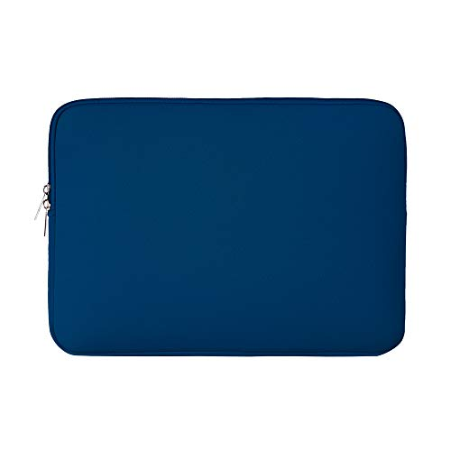 RAINYEAR 14 Inch Laptop Sleeve Case Protective Soft Padded Zipper Cover Carrying Computer Bag Compatible with 14' Notebook Chromebook Tablet Ultrabook (Navy Blue)