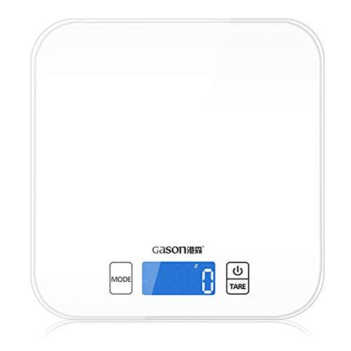 MHBY Balance de cuisine, Mini balance de cuisine outil de mesure de précision électronique échelle numérique Gram cuisson alimentaire verre LCD affichage 15 kg / 1g outil de mesure
