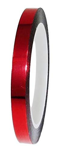 T.R.U. MMYP-1 Mylar Metalized Polyester Film Tape with Acrylic Adhesive. Multiple Colors Available. 72 Yards. (Red, 1/2 in.)