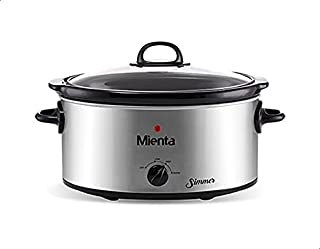 Mienta SC45122A Simmer Slow Cooker, 6 Liters - Silver