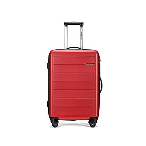 JIAWYJ Maleta portátil/Luz Equipaje Conjuntos Suitcases Bolsa Llevar Ruedas Viajes Ligeros con Maletaseshand 28 Pulgadas/Código de Productos básicos: LWH-19 (Color : Maple Red)