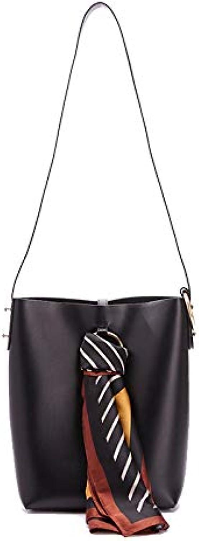 IHMBUI Mode Eimer Tasche Mit Seidenschal Umhngetaschen Für Frauen Handtaschen Frauen Taschen Designer Frauen Umhngetasche